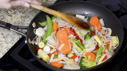 Vegetable stir fry Footage