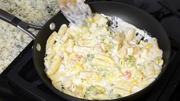 Creamy Chicken Pasta stock footage