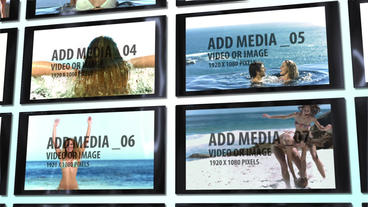 Glossy Video Wall After Effects Template