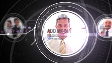 Digital media with lens After Effects Template