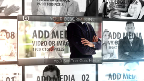 Media Wall with Lower thirds After Effects Template