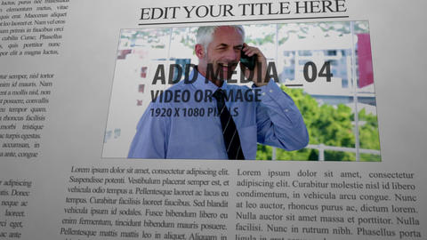 Editable News Paper After Effects Template