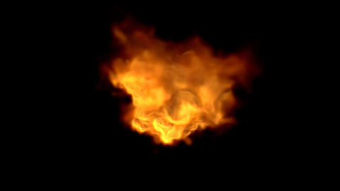 Explosion with Alpha Channel 02 Stock Video Footage