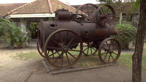 steam engine side Footage