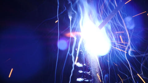 Stock Footage Welding Sparks Slow Motion Macro Stock Video Footage