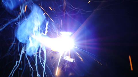 Stock Footage Welding Sparks Closeup Slow Motion Stock Video Footage