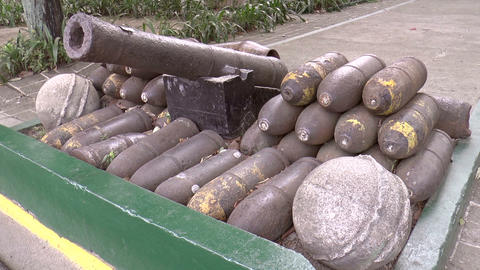 vintage bombs with cannon Live Action