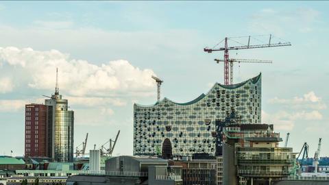 Hamburg, June 2014 - Elbphilharmonie DSLR time lap Stock Video Footage