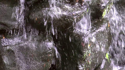 water falls on stones Stock Video Footage