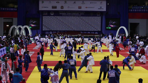 Judo World Championship. Russia. CChelyabinsk Stock Video Footage