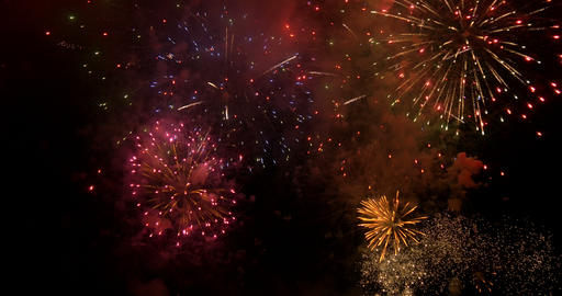 firework 12 4K Stock Video Footage