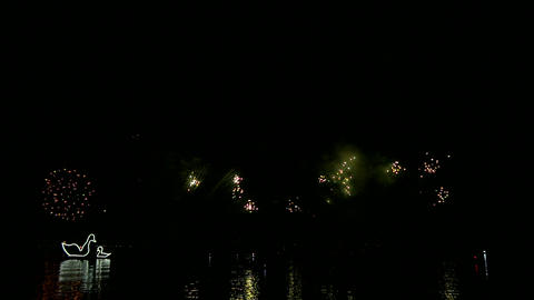 firework slow motion 01 Stock Video Footage