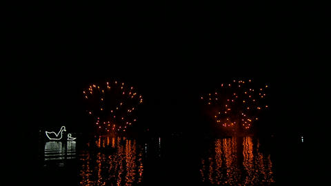 firework slow motion 02 Stock Video Footage