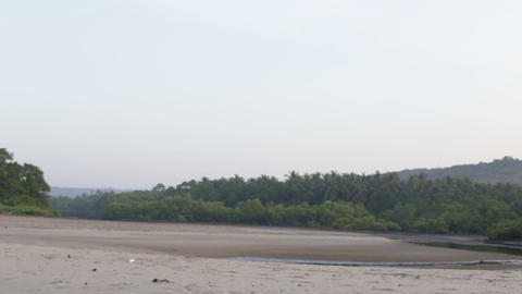 beach with water in the hills and jungles Stock Video Footage
