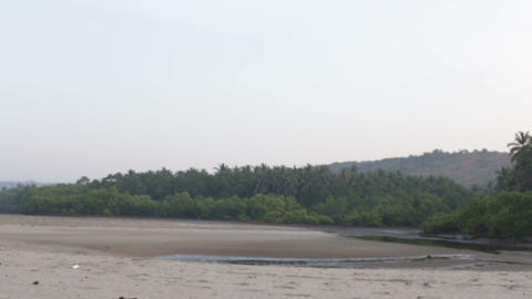 beach with water in the hills and jungles Footage