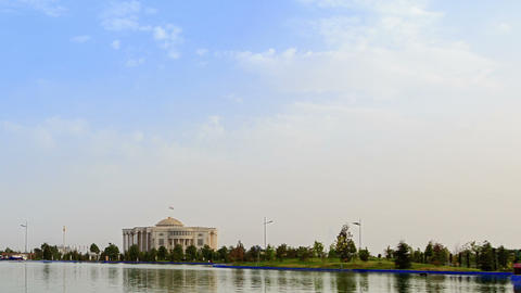 Palais des Nations (Kohi Millat). SunSet. Time Lap Stock Video Footage