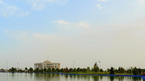 Palais des Nations (Kohi Millat). SunSet. Time Lap Footage