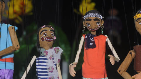 Traditional Thai String Puppet Stock Video Footage