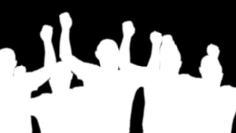 group man silhouette (white ) alpha channel Stock Video Footage