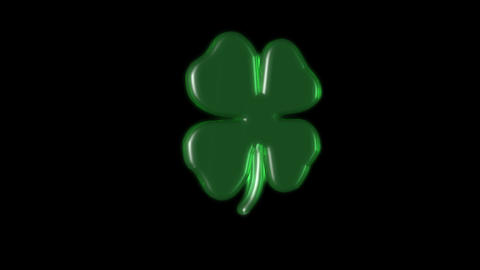 rotating 3 D lucky clover Animation