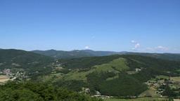 Panoramic View Italian Countryside Footage