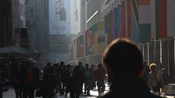 People Walking In Corso Vittorio Emanuele Milan Ci stock footage