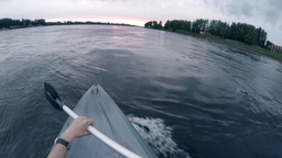 Floating Canoe stock footage