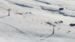 Italy Dolomites Mountains Ski Slope Skiing And Sno Footage