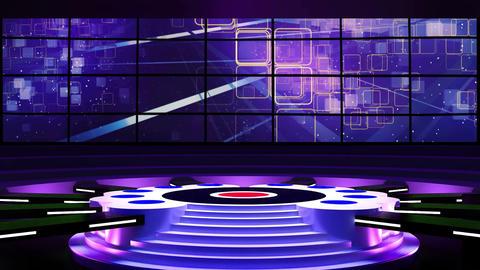 Entertainment TV Studio Set 01-Virtual Background Loop ライブ動画