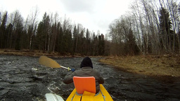 Rafting on a kayak spring river Footage