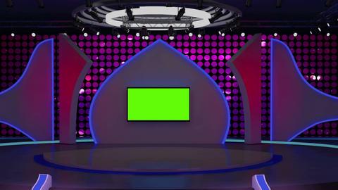 Entertainment TV Studio Set 03-Virtual Background Loop Footage