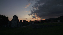 Archeological Site In Italy Time Lapse From Susnet Footage