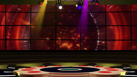 Entertainment TV Studio Set 10-Virtual Background Loop Footage