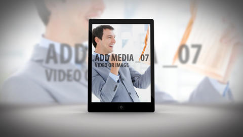 Tablet Slideshow After Effects Template