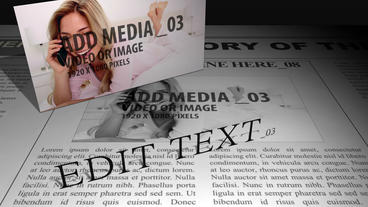 Media Panels on print After Effects Template