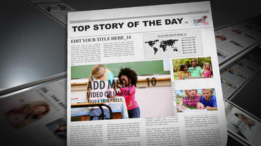 Editable News Paper with printing press After Effects Template