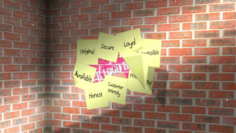 Sticky Note Logo Reveal After Effects Template
