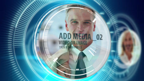 Digital countdown with media After Effects Template