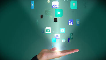 App Hand Hologram After Effects Template