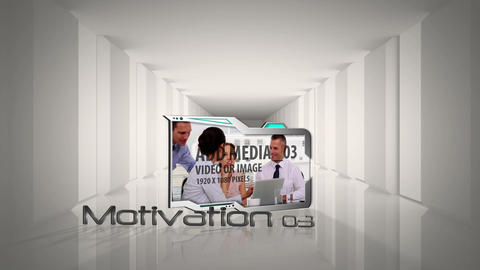 Clean Business Corridor After Effects Template