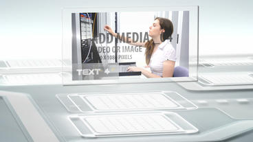 Futuristic Screens Display After Effects Template