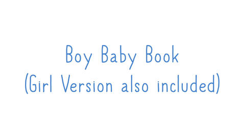 Boy AND Girl Video Baby Book - 1