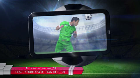Soccer ball with media After Effects Template
