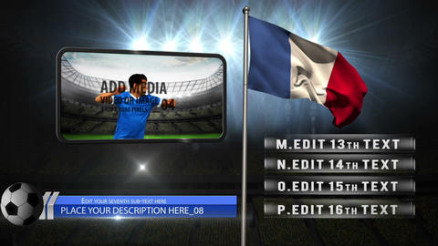 World cup flags with media After Effects Template