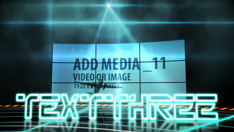 Neon Media Walls After Effects Template