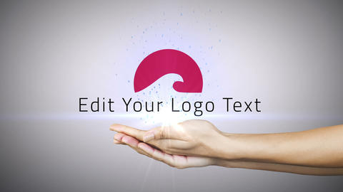 Logo in Hands Pack After Effects Template