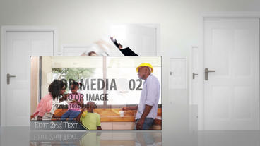Letting Media in through open door After Effects Template