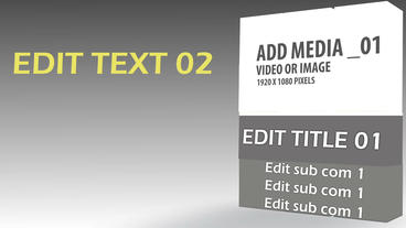 Turning Media Cubes After Effects Template