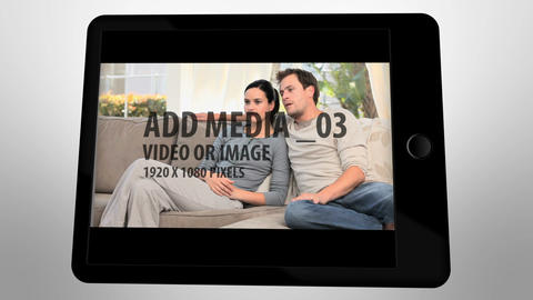 Black Touch Screen Tablet After Effects Template