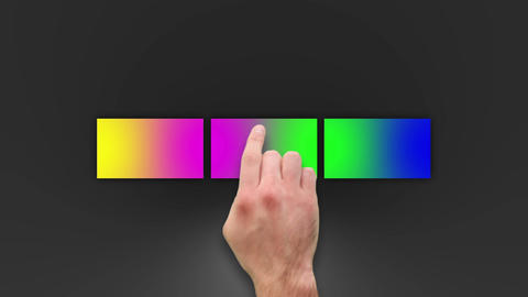 Colourful Touch Panels After Effects Template